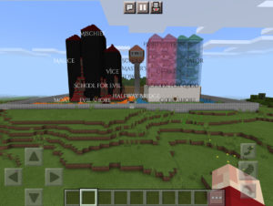 """Artwork titled """"School for Good and Evil! (Minecraft)"""", submitted by HesterDemon on September 23, 2021."""